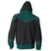 Fans Wear Sweatshirt Superhero Carol Danvers Printed Hoodies Captain Marvel Universe Cosplay Zip Up Hoodie Sweatshirts zip up hoodie