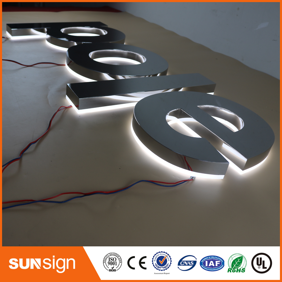 Mirror Stainless Steel Metal Channel Letter Sign