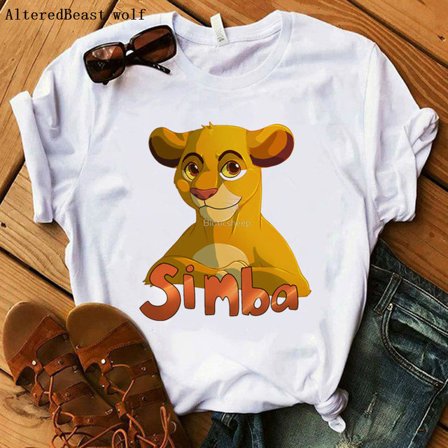 The Lion King Cartoon Funny Short T Shirt 4