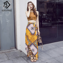 Voobuyla Women 2 Two Pieces Sets 2018 Summer Sling Crop Top Flowers Print Shorts