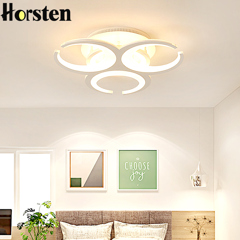 Creative Art Acrylic LED Ceiling Lights For Bedroom Study Modern Remote Control Acrylic Ceiling Lamp Home Lighting Fixture