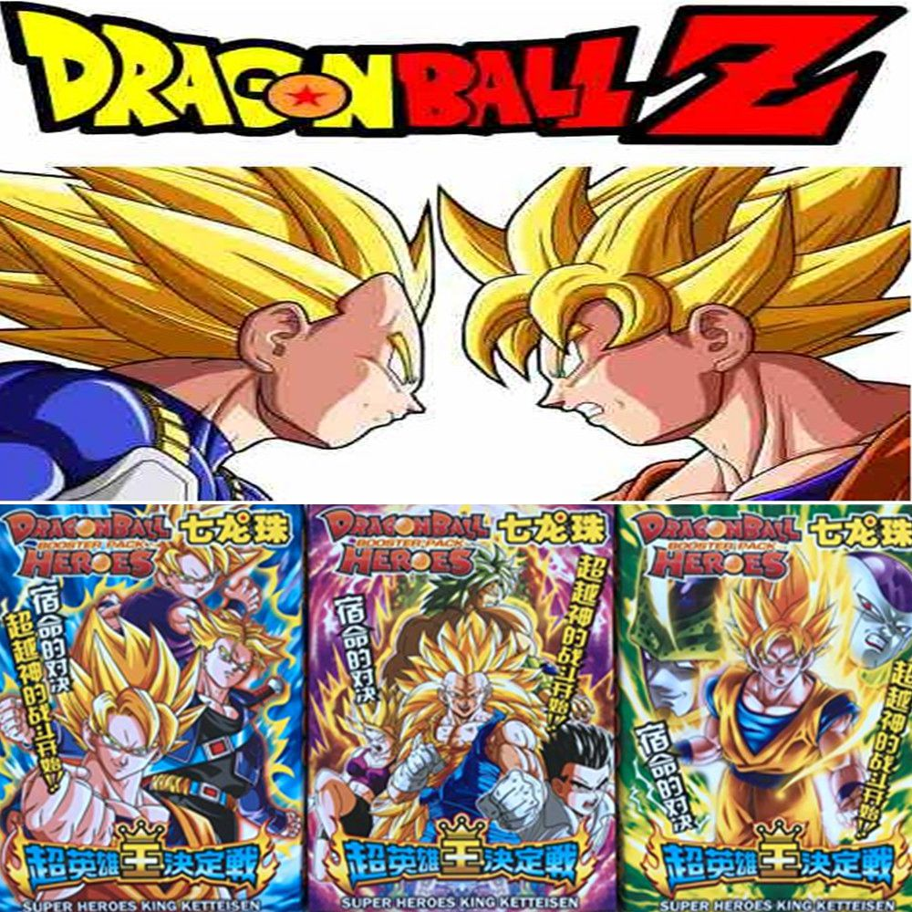 100 Pcs/lot Dragon Ball Z Collection Cards Super Saiyan Vegeta Goku Freeza Action Figure Card Kid Gift Toy