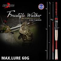 KUYING Freestyle Walker 2.1m Hard Lure Fishing Rod Casting Mini Pocket Travel Carbon Pole Stick Cane Medium Fast Action Max. 60g
