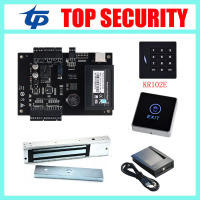 ZK linux system smart card one door access control system C3 100 access control panel with KR102 card reader and exit button