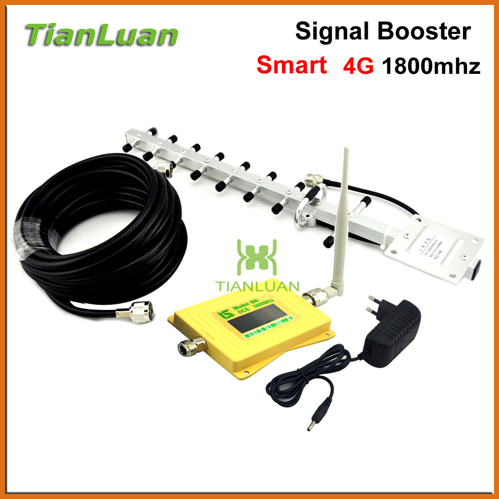 mini Smart LCD DCS 1800mhz Signal Booster 2G 4G Mobile phone Signal Repeater DCS980 Amplifier with Whip / Yagi Antenna Yellowmini Smart LCD DCS 1800mhz Signal Booster 2G 4G Mobile phone Signal Repeater DCS980 Amplifier with Whip / Yagi Antenna Yellow