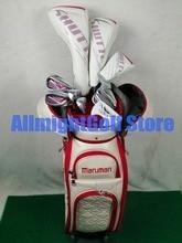 Frauen Golf clubs Maruman SHUTTLE fahrer + fairway holz + Hybrid + eisen + putter + Tasche Golf komplette set graphit welle mit Headcover