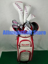 Mulheres clubes De Golfe Maruman SHUTTLE motorista + fairway wood + Hybrid + ferro + putter + Saco de Golfe conjunto completo grafite eixo com Barrete