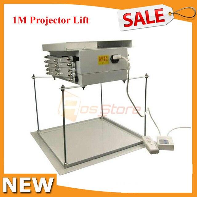 1M Electric Motorized Scissor Projector Lift Remote Control Electric ...