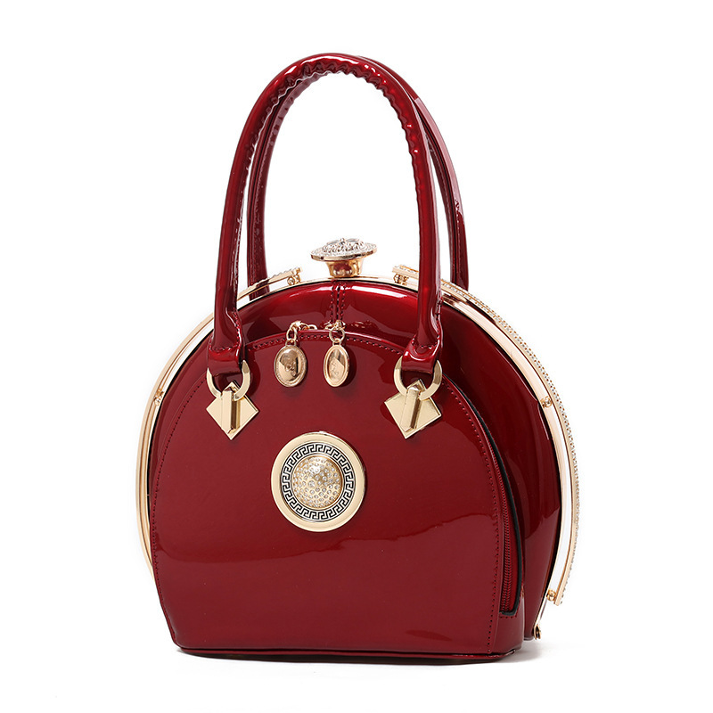 New Fashion Circular Women Handbags European Design Patent Leather Ladies Shoulder Bags Female Girl Brand Luxury Crossbody Bag