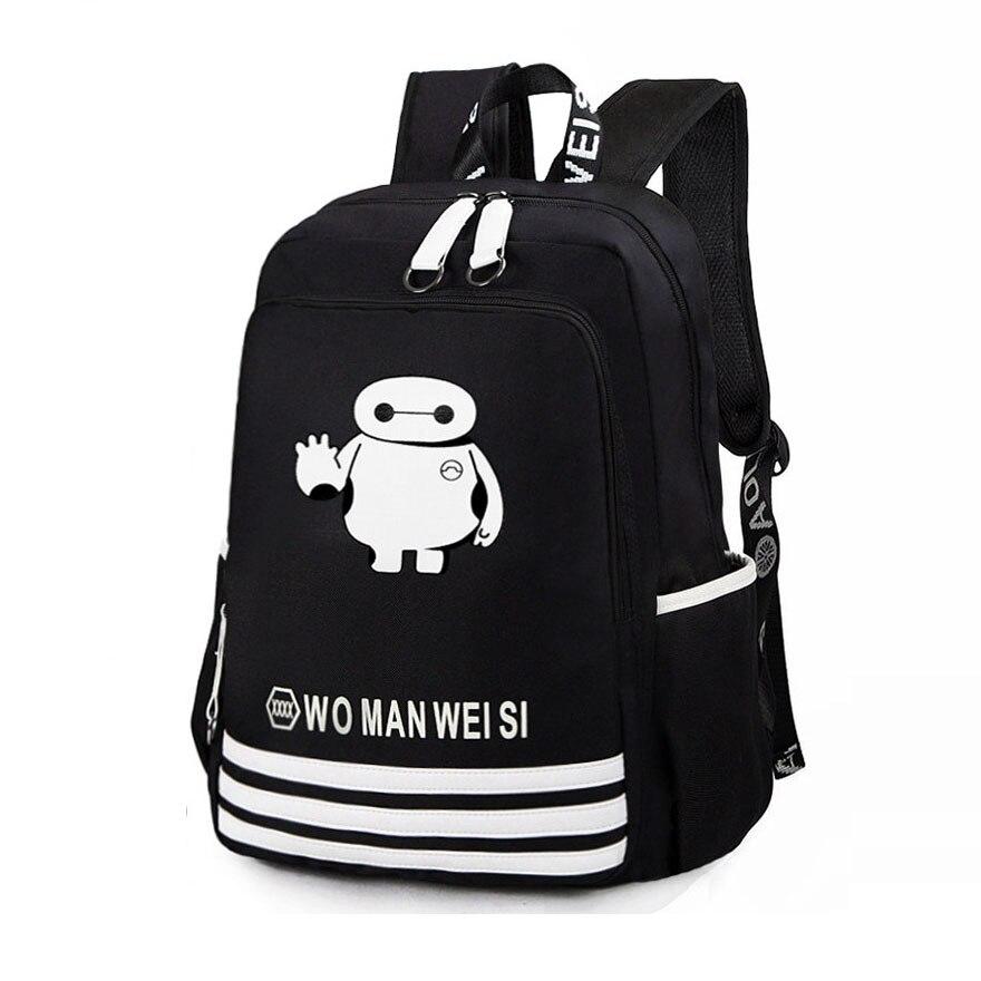 b81426889f Trendy Cartoon Anime Printing Fashion School Bag Men Trendy Laptop Bag  Durable Travel Backpack Designer Luminous Backpack-in Backpacks from Luggage    Bags ...
