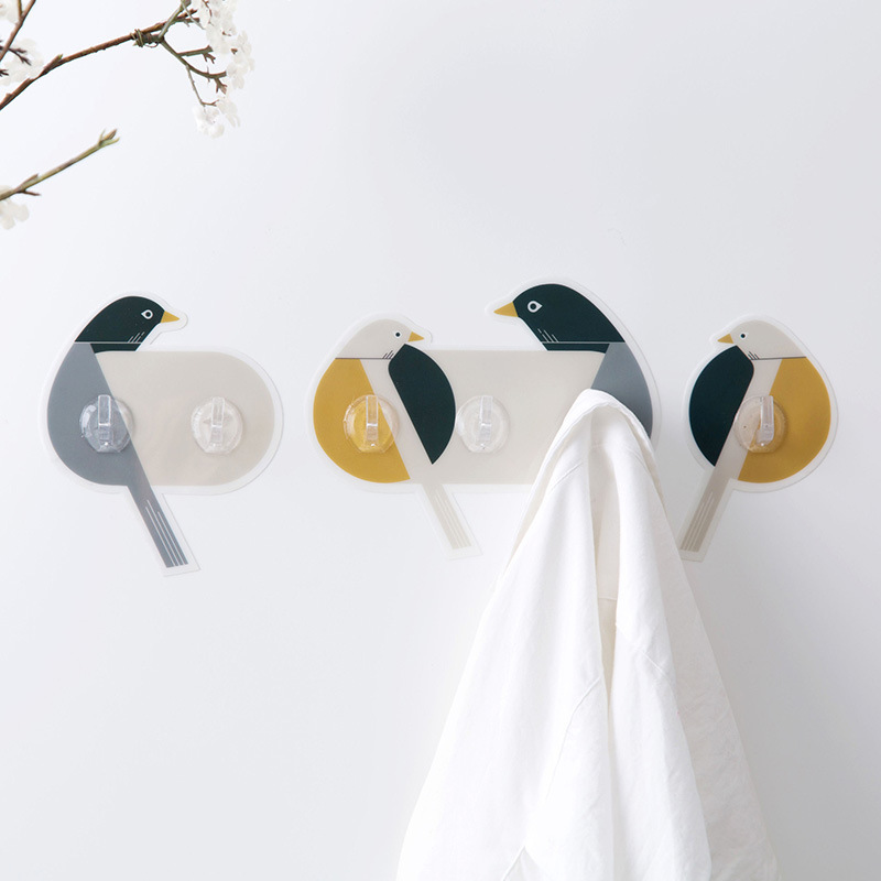 PVC Bird Shaped Key Holder On Wall Rack For Coat Animal Housekeeper Home Decoration Accessories Hanger Key Hooks