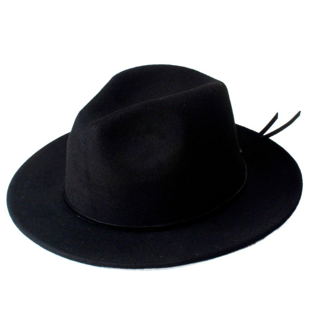 Kopfbedeckungen Für Damen Marke Wolle Frauen Chapeu Feminino Fedora Hut Für Laday Woll Breite Krempe Jazz Kirche Kappe Panama Top Sonnenhut 20 Filzhüte