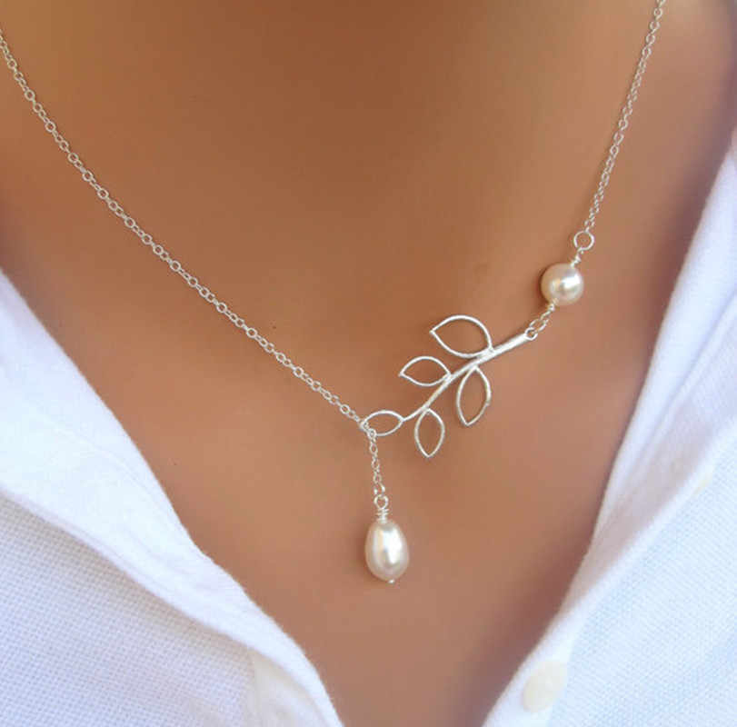 2019 Hot Selling New Punk Minimalist Infinity Luck 8 Cross Leaf Pendants Necklaces For Women Jewelry Clavicle Chain