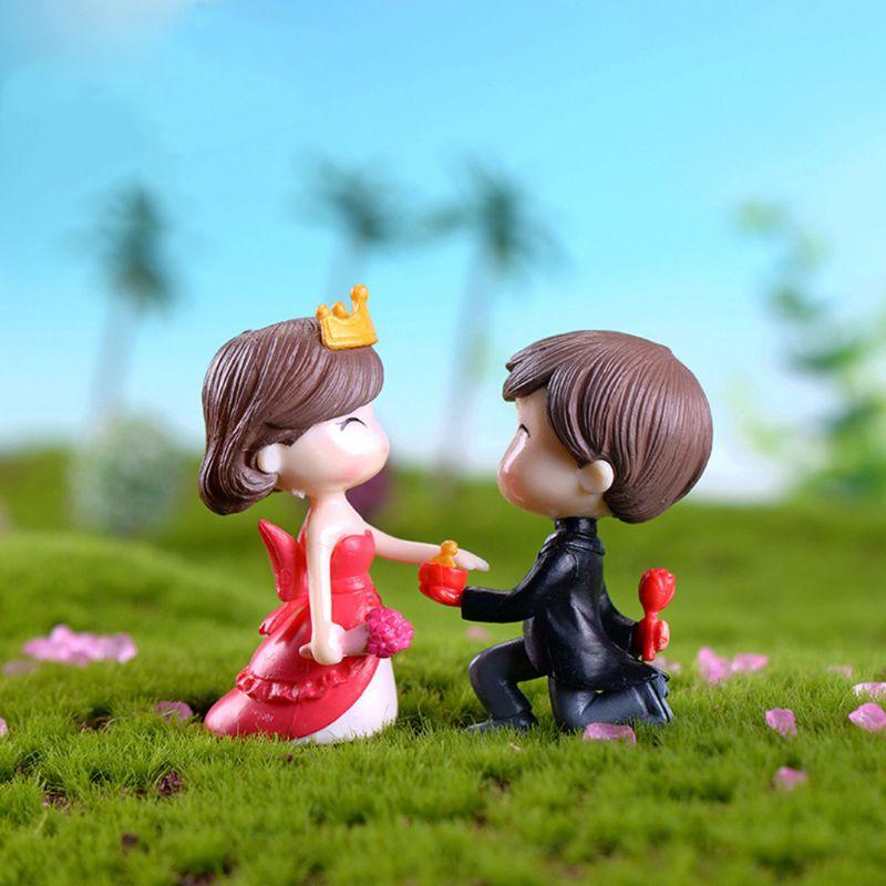 Marry Couple Home Garden Decoration Wedding Ornaments Mini Bonsai Micro Landscape DIY Craft