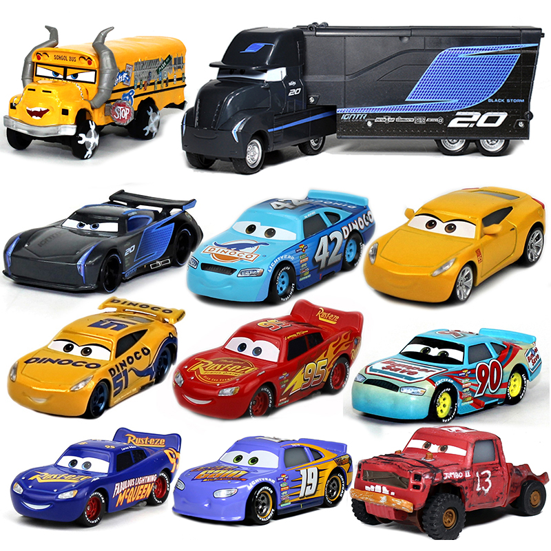 new style disney pixar cars 3 black storm jackson truck lightning mcqueen metal car toy sterling. Black Bedroom Furniture Sets. Home Design Ideas