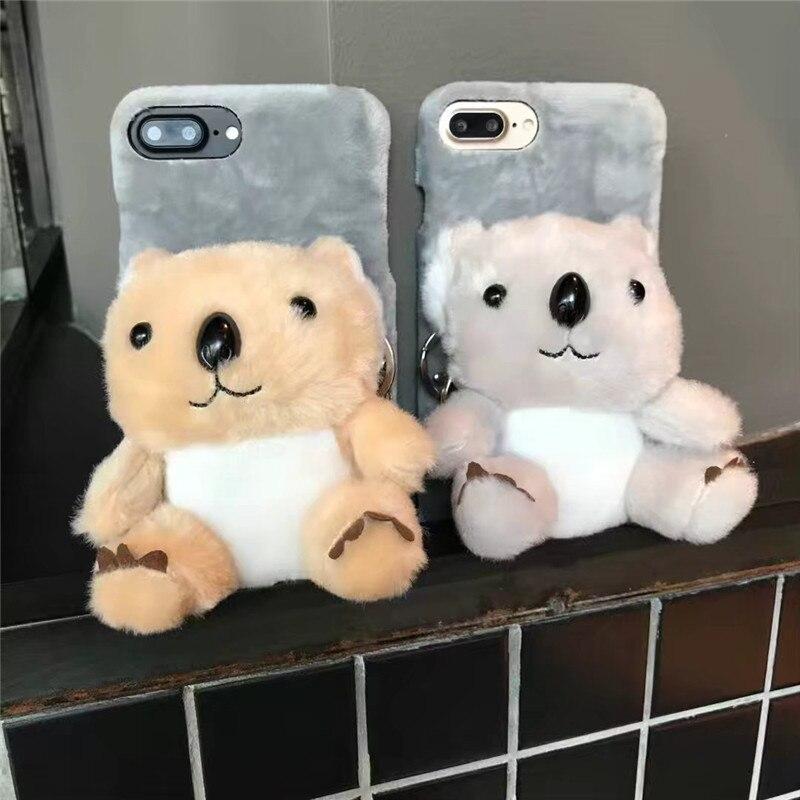 Cartoon For Iphone 8 Plus Case Luxury For Iphone 8 Plus Case Cute Mobile Phone Bags plush