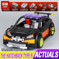 New Model Building Kits Compatible With Lego CITY 640PCS The Hatchback Type RC 3D Blocks Educational