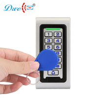 DWE CC RF access control keypads waterproof wiegand standalone rfid reader with door bell button with numbers button