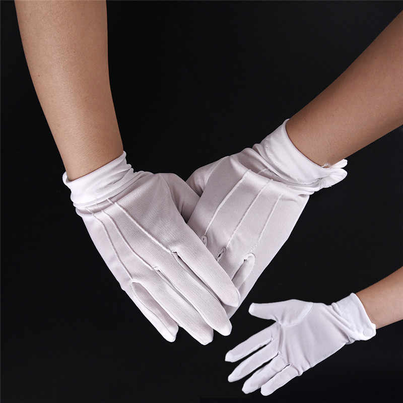 aa6c0eb6f4 men's work gloves Formal Cotton GlovesWork Uniform Catering uniforms  Magician Parades Inspection White Five-fingers Women