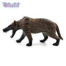Simulation dire wolf Animal Model Plastic figure home decor fairy garden decoration accessories Canis dirus Figurine statue toys цена и фото