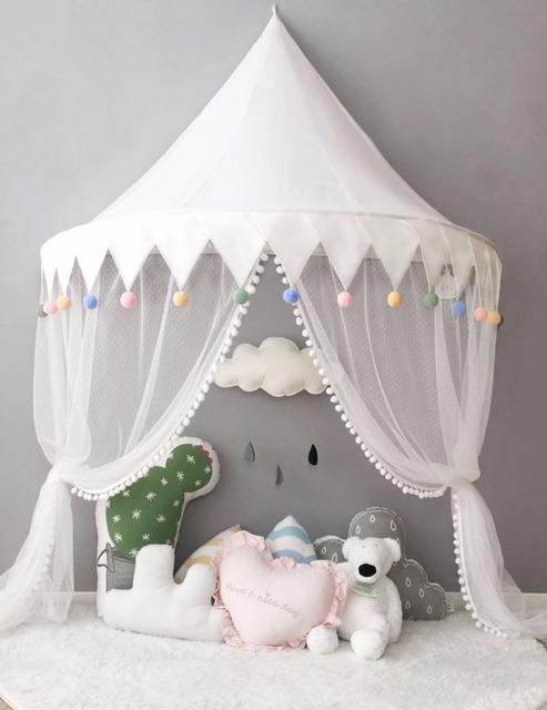 Tent for Kids Play House Portable Princess Castle Beds Canopy