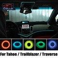 Новейшие DIY EL Провода Для Chevrolet Tahoe Hybrid/Trailblazer/траверс/Украшение Автомобиля Холодный Свет Лампы Атмосфера/9 М A набор