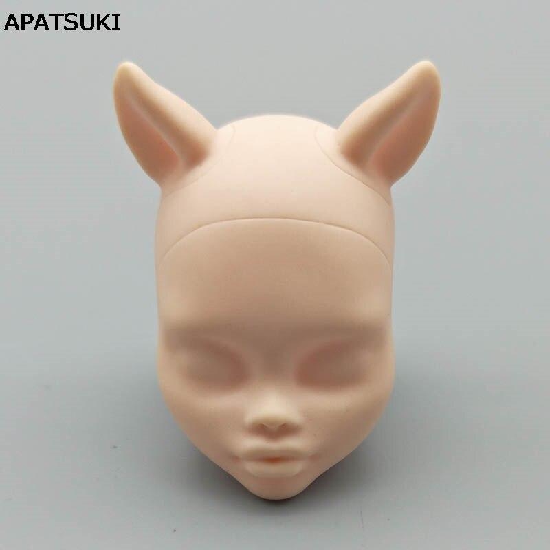 Doux pratique maquillage poupée tête pour monstre haute poupée BJD poupée pratique maquillage monstre tête sans maquillage