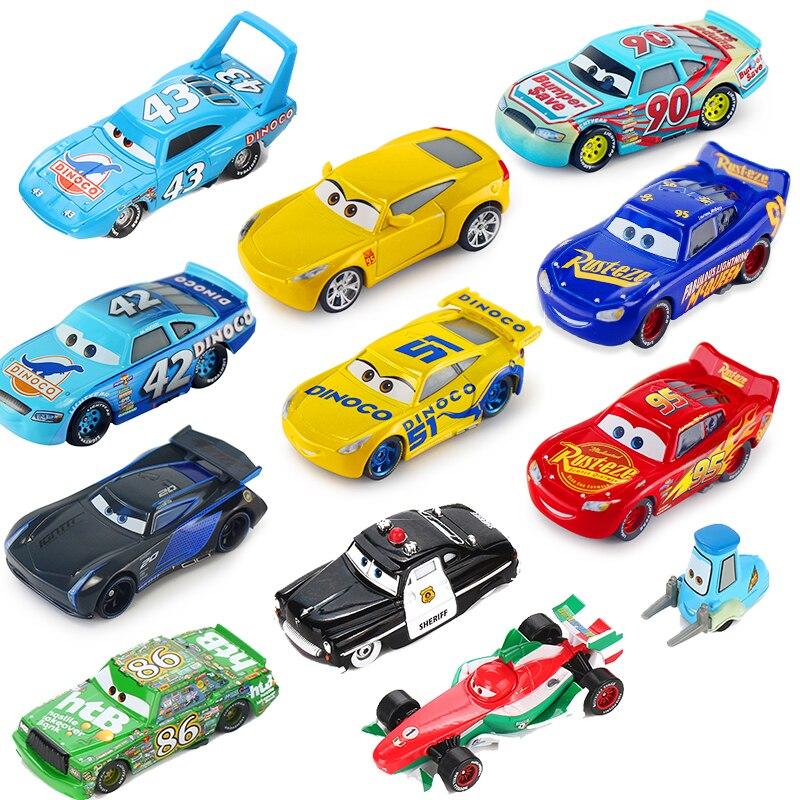 Disney Pixar Cars 3 Lightning McQueen Mater Jackson Storm 1:55 Diecast Metal Alloy Model Car Birthday New Year Gift Toy For Boy 2015 d23 expo pixar cars lightning mq s biggest fan le 1000 big al loose new 1 55