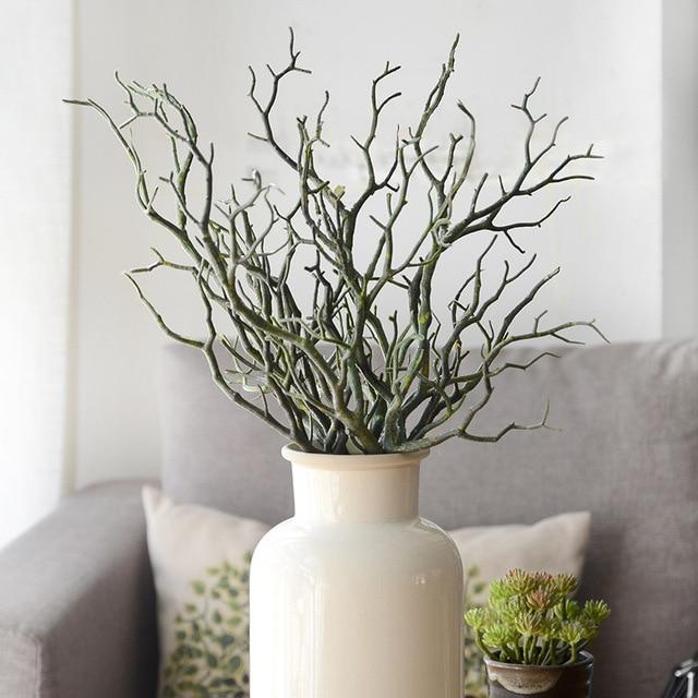 Flores Artificiales Arte Oscuridad Bruja Arboles Cuernos Bifurcados - Ramas-de-arboles-para-decoracion