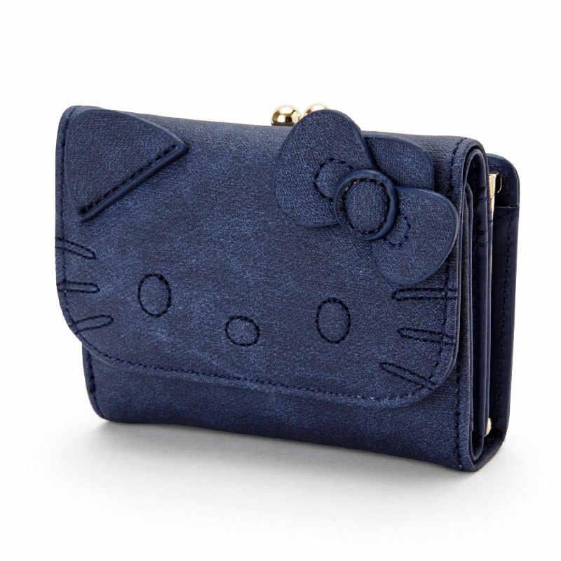 Olá Kitty Bonito Bolsa Da Moeda samll Chave titular de cartão de Mulheres Carteira de couro Carteiras de marca de grife Caso organizador de Embreagem mini saco sac