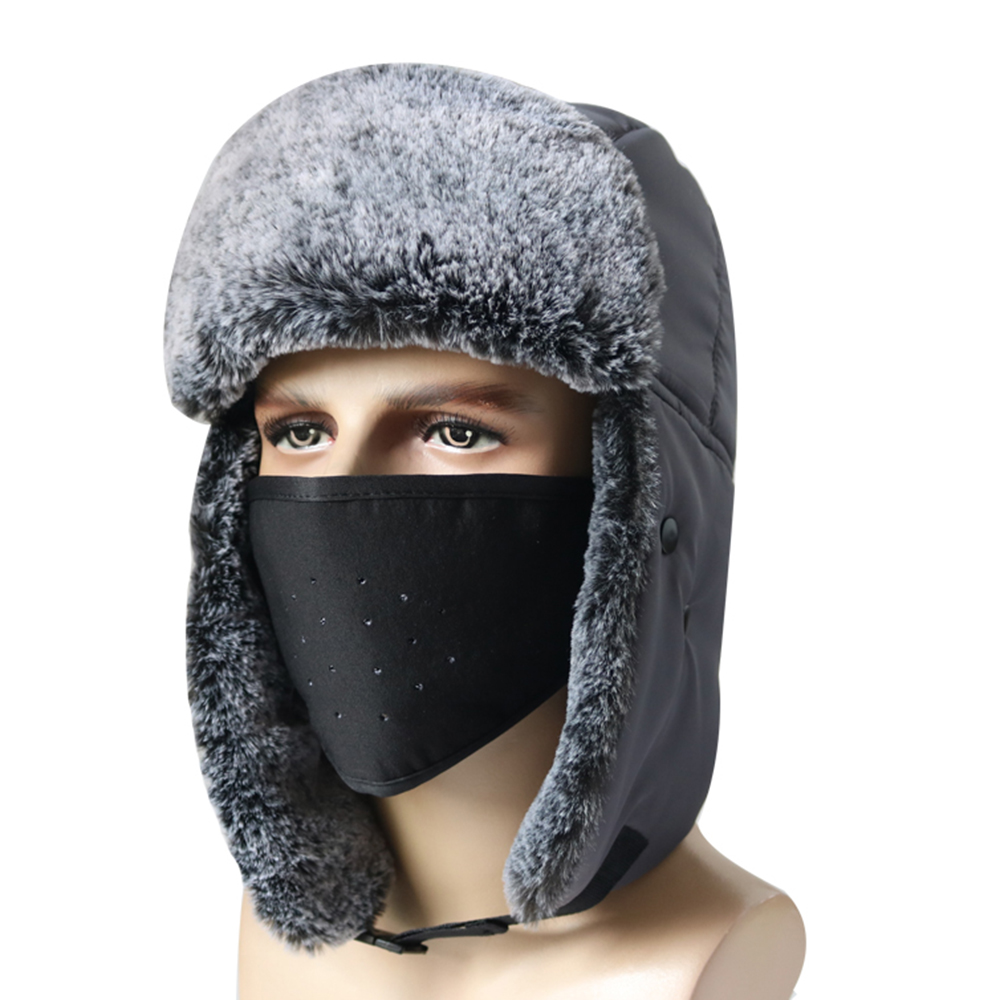 Balaclava Winter Down Hood Hat Windproof Sleeping Trooper Waterproof Cap with Storage Bag