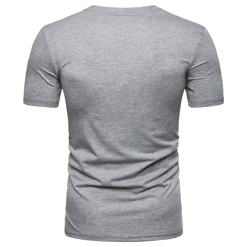 b788ff4da5ac Irregular Men T shirt 2018 Summer Short Sleeve Mens T shirts Casual Slim  Fit V Neck Tee Shirt Homme Casual Slim Fit Top Tees XXL-in T-Shirts from  Men s ...
