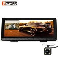 Bluavido 8 ips 4G Android автомобильный dvr gps навигатор ADAS Full HD 1080p регистраторы двойной камера Авто Видео регистраторы Wi Fi удаленного мониторы