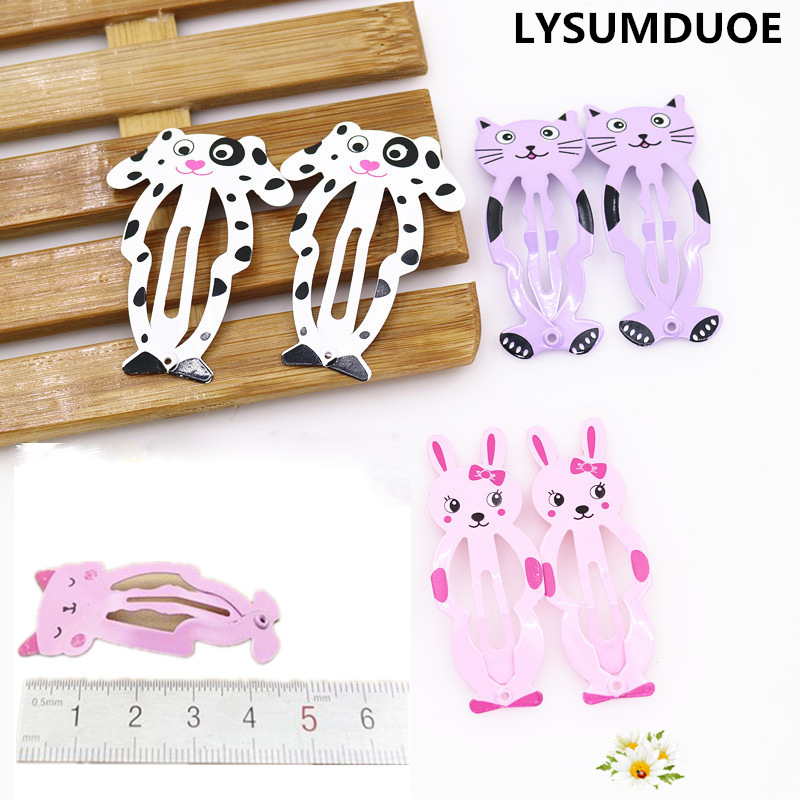 6Pcs/Lot Fashion Women Hairpin Cartoon Barrette Animal Cat BB Side Clip Baby Gift Girl Hairgrip Jewelry Child Hair Accessories 8 pieces children hair clip headwear cartoon headband korea girl iron head band women child hairpin elastic accessories haar pin