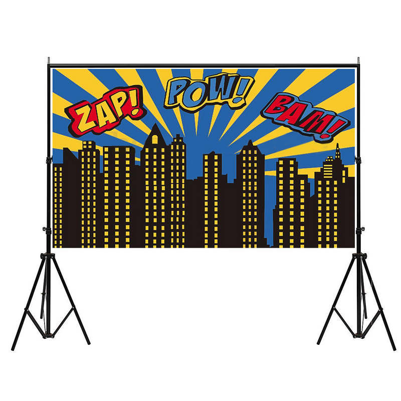 Mayitr 5x3ft Super City Photography Backdrop Theme Building Studio Super Hero Photo Background Prop Fit For Photography Party 3 5m vinyl custom photography backdrops prop nature theme studio background j 066
