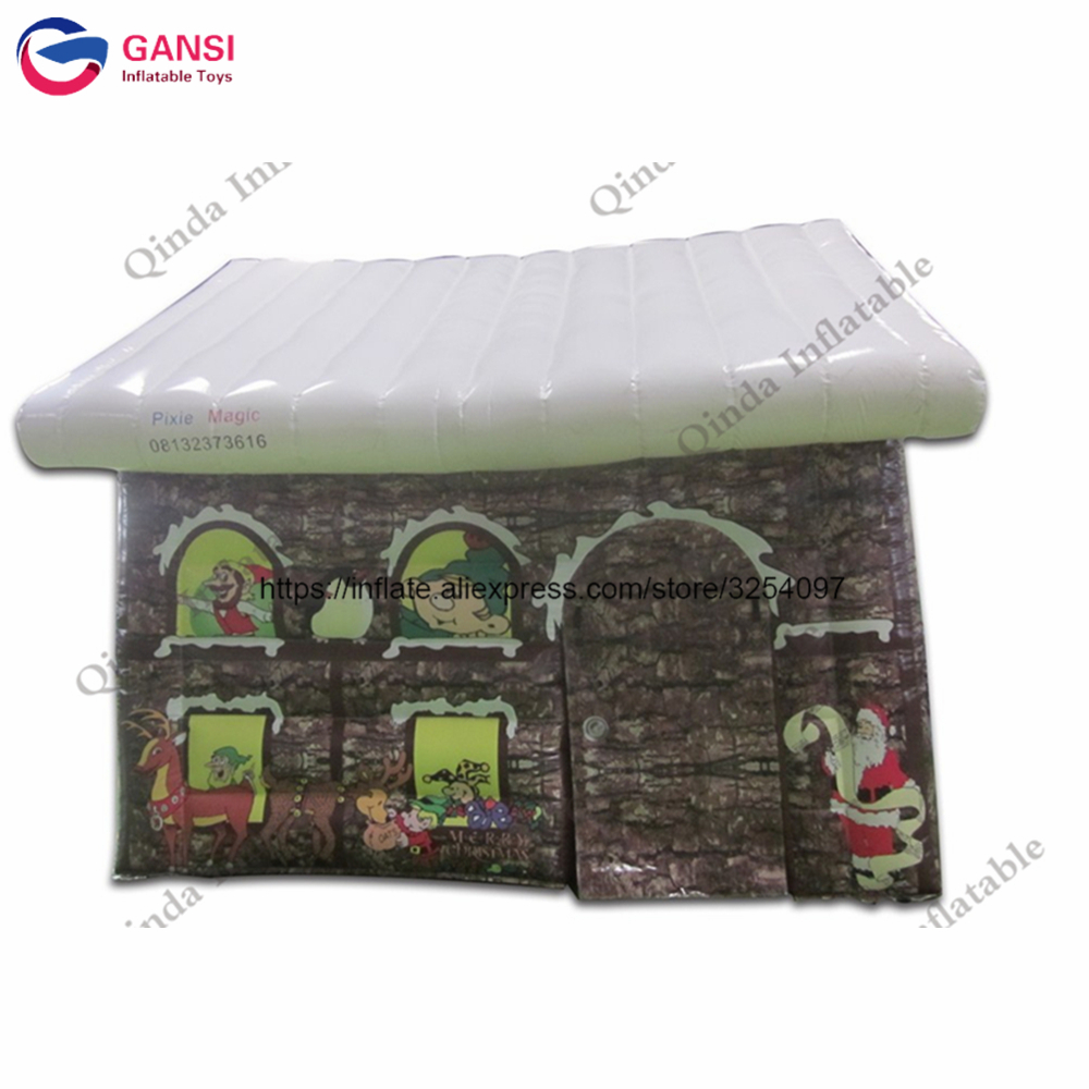 2017 Christmas decoration inflatable santa bar, Inflatable Christmas house tent toys for children giant christmas inflatable 5m high inflatable christmas santa claus cartoon for outdoor party events festival toy