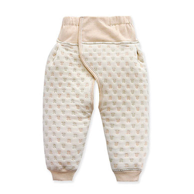 Baby Pants Leggings Open-Crotch Diaper-Changing-Pants High-Waist Winter Cotton Warm Vintage