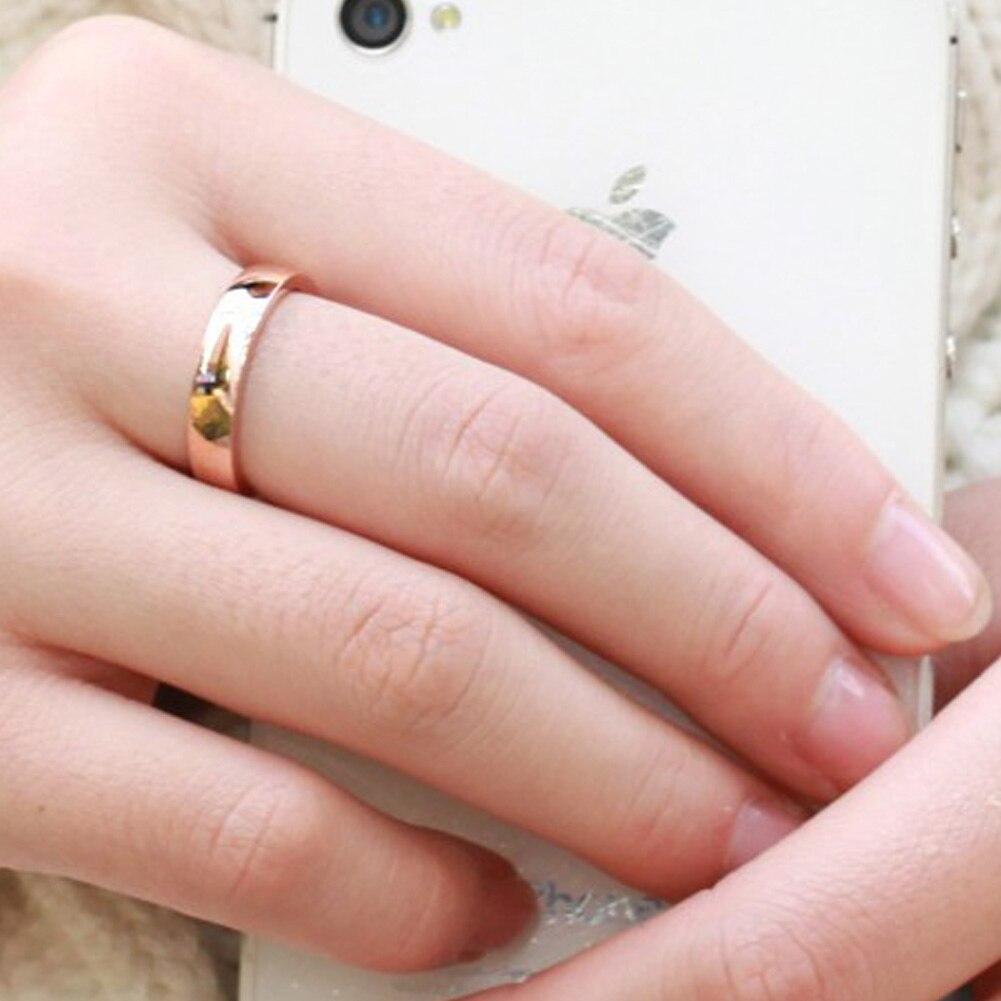 1PC Unique Titanium Stainless Steel Rhinestone Couple Rings Wedding ...
