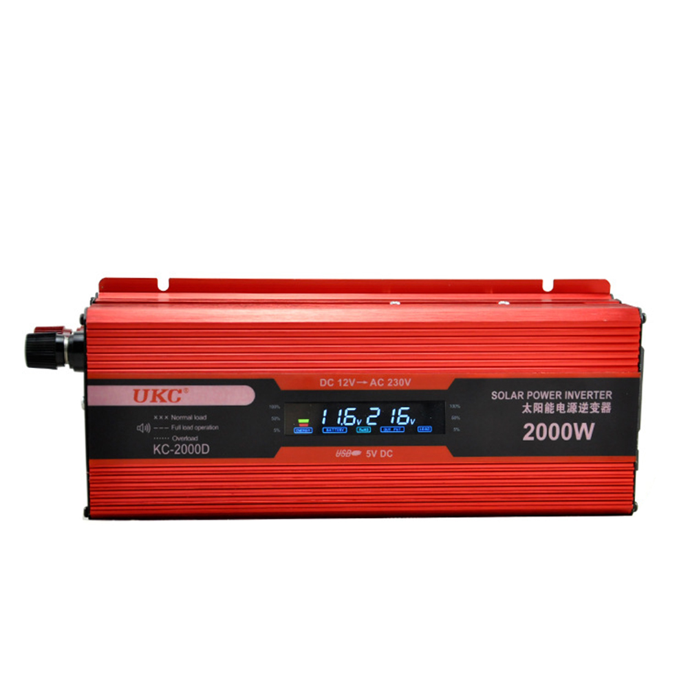 Vehicle 2000W font b Car b font Power Inverter Converter DC 12V to AC 220V USB
