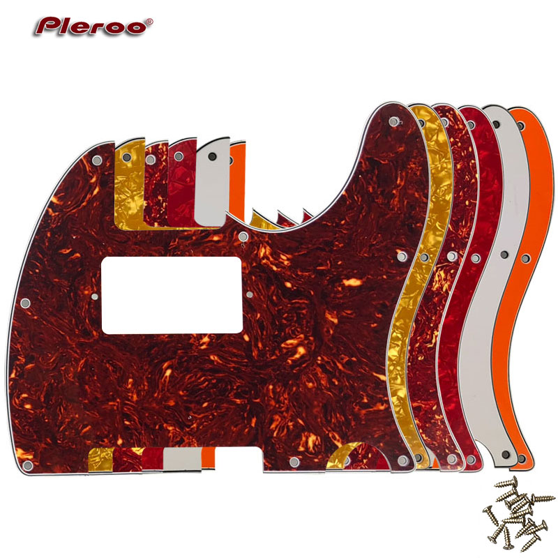 Pleroo Guitar Parts - For US Standard 8 Screw Holes Tele Telecaster With PAF Humbucker Guitar Pickguard Scratch Plate