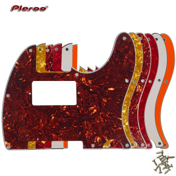Pleroo Guitar Parts - For US Standard 8 Screw Holes Tele Telecaster With PAF Humbucker Guitar Pickguard Scratch Plate pleroo guitar pickguard for us 11 screw holes stratocaster with floyd rose tremolo bridge paf humbucker single hss scratch plate