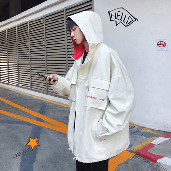 Spring Tooling Korean Version Loose Casual Winter Large Jacket Warm Clothing Fashion Streetwear Multi-pocket Men Clothes Autumn