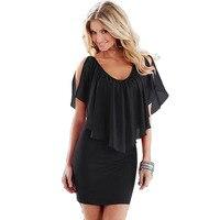 2015 Free Shipping Summer Dress Chiffon Pure Color Sexy Dress Fashion Joint Vestido De Festa Party