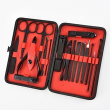 1set Pro Manicure Set Nail Kit Nail Art Tools All For Manicure Sets Pedicure Care With Pusher Ingrown Nail File Polish Tweezer addfaor finger toenails hook ingrown corrector lifter file cuticle pusher remover trimmer pedicure manicure nail art tools