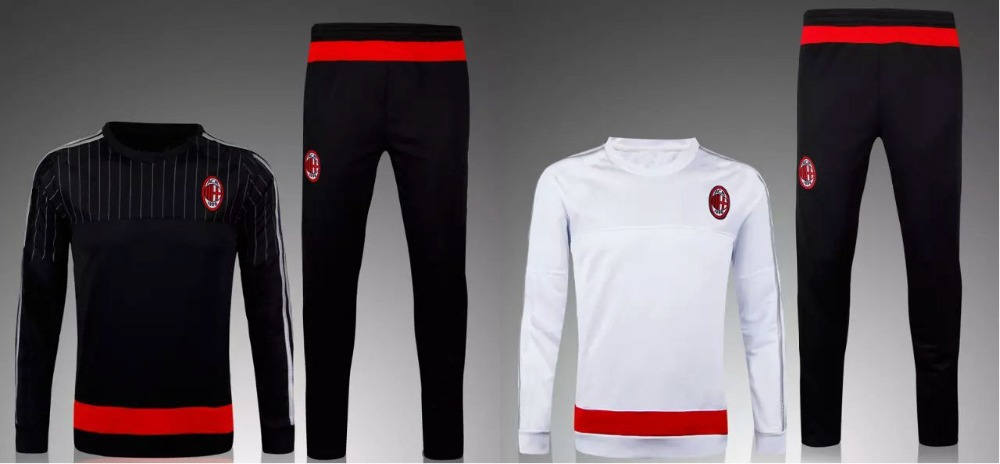 7f2ba0e28e5d4 2016 Survetement football AC Milan training suit Chandal AC Milan soccer  tracksuit AC Milan sweatshirt sweater top pant en de en AliExpress.com