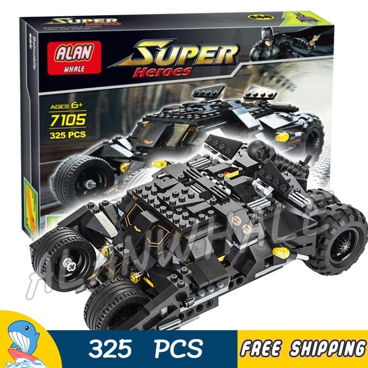 325PCS Super Heroes Batman Movie The Tumbler Batmobile Tank 7105 Model Building Blocks Assemble Toys Bricks Compatible With Lego