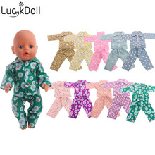 Luckdoll home clothes Fashion Cotton Pajamas Doll Fit 43cm Dolls, Kids Favorite Accessories