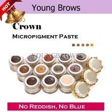 Microblading Eye Brow Paste Colours 3D Ручная вышивка бровей Перманентный макияж MicropigmenyPigment 14 Tattoo Ink colors