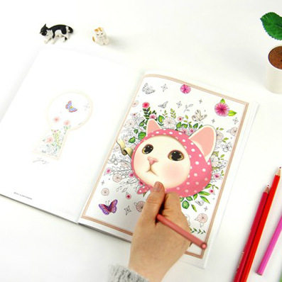 Tienda Online 80 páginas (40 hojas) lindo gato de dibujos animados ...