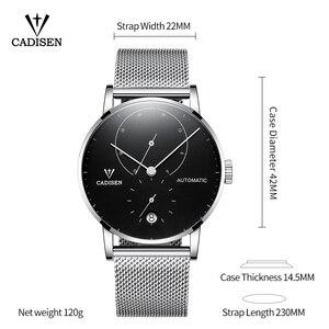 Image 3 - CADISEN TOP Mens นาฬิกาอัตโนมัตินาฬิกาผู้ชายนาฬิกาแฟชั่นกีฬานาฬิกา 5ATM กันน้ำปฏิทิน